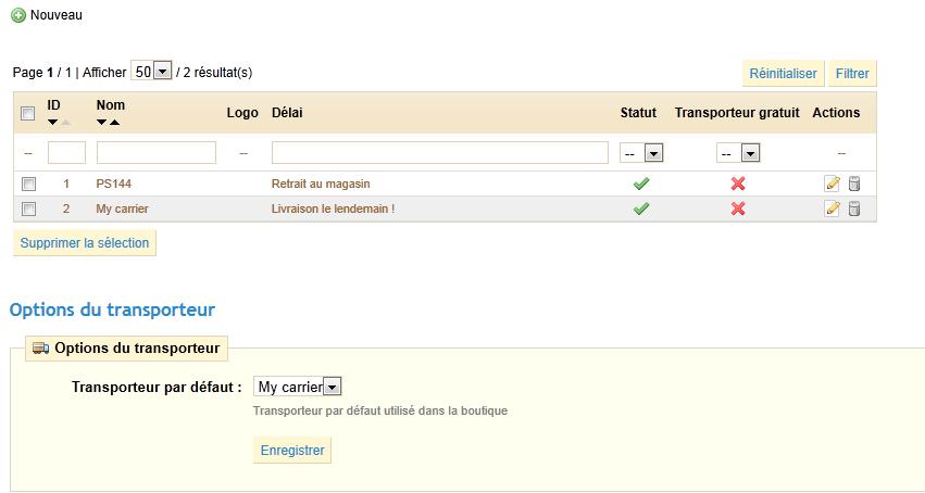 G rer le transport prestashop 1 4 prestashop documentation - Prix colis transporteur ...